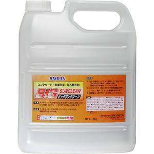リスダンケミカル ビッグサンクリーン 外壁・コンクリート・尿石除去洗浄剤・酸性 4kg nts