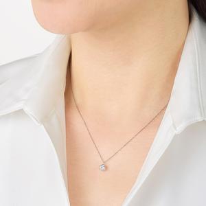 プラチナ台0.5ctダイヤモンドネックレス(特典付)|ntv7