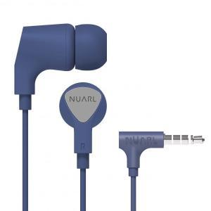 [NUARL公式ストア] NUARL NE1000 リモコンマイク付き ステレオイヤホン(ネイビー)|nuarl