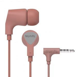 [NUARL公式ストア] NUARL NE1000 リモコンマイク付き ステレオイヤホン(ピンク)|nuarl