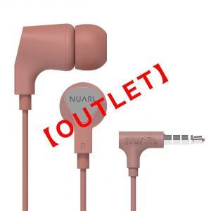 アウトレット【公式ストア】NUARL NE1000 リモコンマイク付き ステレオイヤホン(ピンク)【箱なしバルク品】 nuarl