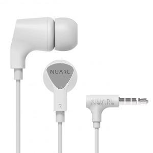 [NUARL公式ストア] NUARL NE1000 リモコンマイク付き ステレオイヤホン(ホワイト)|nuarl
