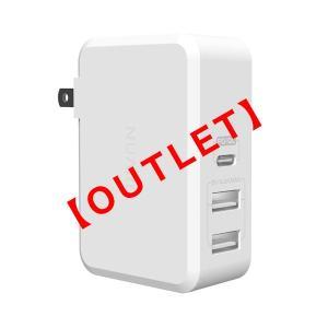 アウトレット【公式ストア】NUARL 41W USB-C PD 急速充電器 MacBook/MacBook Air/iPhone/iPad2018対応 USB-A iPad/IQOS対応/海外電源対応|nuarl