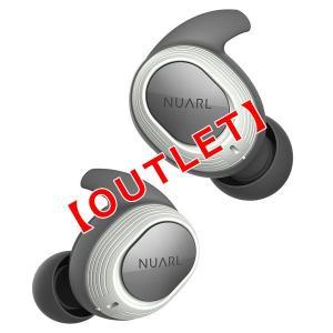 アウトレット【公式ストア】NUARL NT100 IPX7防水/4h再生/マイク付/軽量4g//Bluetooth5/左右独立ステレオ/完全ワイヤレスイヤホン(ホワイト)|nuarl
