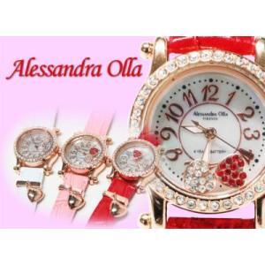 レディース腕時計/アレサンドラオーラ 人気 ピンクゴールド ハートチャーム AO-770全4色/腕時計/女性用腕時計|nuchigusui|02