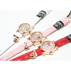 レディース腕時計/アレサンドラオーラ 人気 ピンクゴールド ハートチャーム AO-770全4色/腕時計/女性用腕時計|nuchigusui|05