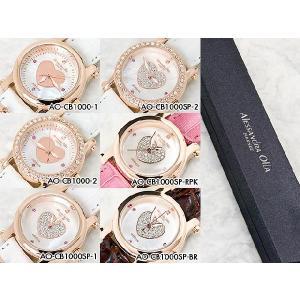 レディース腕時計/アレサンドラオーラ 人気 ピンクゴールド 選べる6種類 ハートチャーム/腕時計/女性用腕時計 nuchigusui 03