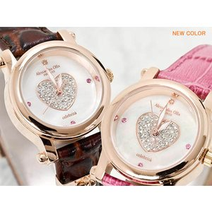レディース腕時計/アレサンドラオーラ 人気 ピンクゴールド 選べる6種類 ハートチャーム/腕時計/女性用腕時計 nuchigusui 05