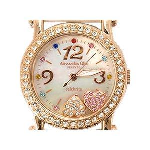 レディース腕時計/アレサンドラオーラ 人気 ピンクゴールド 選べる7種類 チェレブリタハートチャーム/腕時計/女性用腕時計|nuchigusui