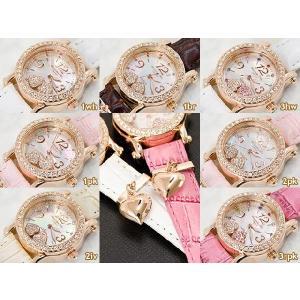 レディース腕時計/アレサンドラオーラ 人気 ピンクゴールド 選べる7種類 チェレブリタハートチャーム/腕時計/女性用腕時計|nuchigusui|03