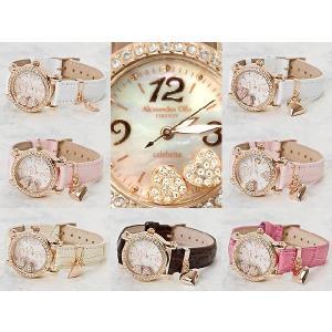 レディース腕時計/アレサンドラオーラ 人気 ピンクゴールド 選べる7種類 チェレブリタハートチャーム/腕時計/女性用腕時計|nuchigusui|04