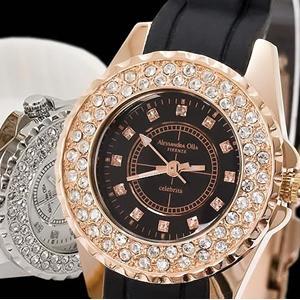 レディース腕時計/アレサンドラオーラ 人気 ピンクゴールド  アレッサンドラオーラ 天然ダイヤ/腕時計/女性用腕時計|nuchigusui