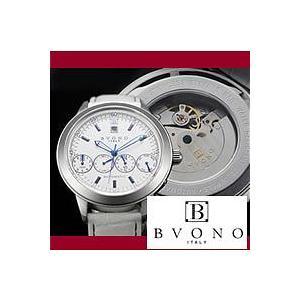 メンズ腕時計|BVONO ヴォーノ 自動巻きフルカレンダー B-5507-2 WH|nuchigusui