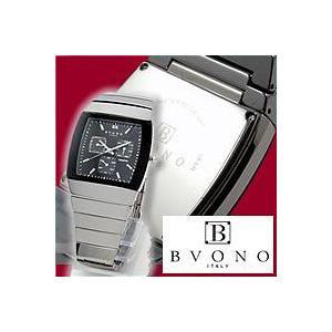 メンズ腕時計|BVONO ヴォーノ クォーツ オールタングステン B-5536-3 BK|nuchigusui