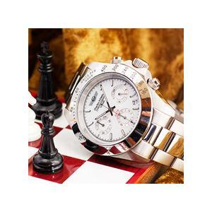 クロノグラフ シャルルホーゲル クロノグラフ 選べる2色 ホワイト/ブラックメンズ腕時計 CharlesVogeleギフト クロノグラフ nuchigusui