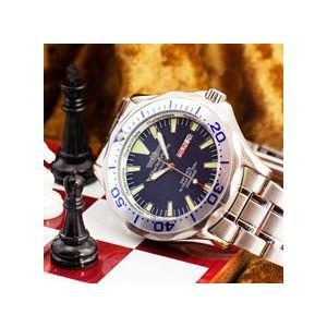 シャルルホーゲル 20気圧ダイバーウォッチ 選べる2色 ブルー/ブラックメンズ腕時計 CharlesVogeleギフト 男性用 nuchigusui