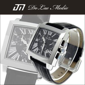 クロノグラフ ドルチェ・メディオ 人気 スクエアクロノグラフ DolceMedio メンズ腕時計 DM8003全5色ギフト 男性用 クロノグラフ|nuchigusui