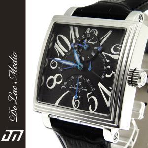 雑誌パワーウォッチ掲載商品 ドルチェ・メディオ 人気 レトログラード DolceMedio メンズ腕時計 DM8009全3色ギフト 男性用|nuchigusui