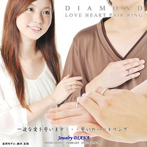 ペアリング 指輪 ダイヤモンド ハート ペアリング シルバー ダイヤ ストレート 指輪 誕生日 プレゼント 人気 ギフト セール|nuchigusui|05