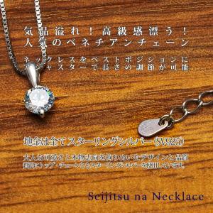 ネックレス レディース 大粒0.66カラット相当 大人可愛い ネックレス プラチナ仕上げ アクセサリー 女性 人気 誕生日 ギフト プレゼント セール nuchigusui 05