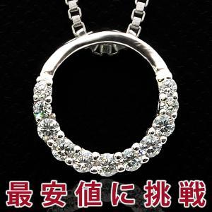 ネックレス レディース/贅沢11粒 リング ネックレス/プラチナ仕上げ/シルバー925 誕生日 ギフト プレゼント セール|nuchigusui