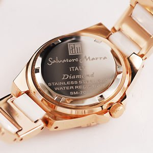 AneCan掲載人気 サルバトーレ・マーラ   ピンクゴールド 天然ダイヤ レディース腕時計 Salvatore Marra SM7040|nuchigusui|05