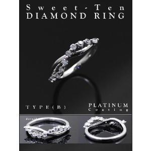 リング 指輪 レディース ダイヤモンド スイートテン リング シルバー ダイヤ ストレート 指輪 女性 人気 誕生日 プレゼント ギフト セール|nuchigusui|03