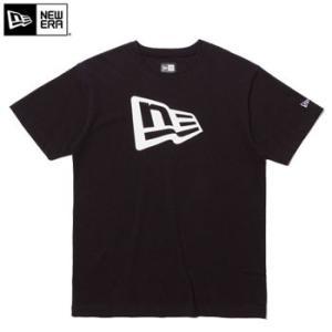 ニューエラ 2017 Cotton Tee Flag Logo Tシャツ  ブラック × ホワイト 11403724|number7