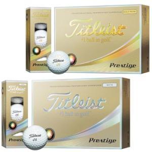 タイトリスト 2017  プレステージ ゴルフボール 1ダース (12個入り)日本仕様  ゴールドパール / ホワイト  [Titleist Prestige Golf ball]|number7