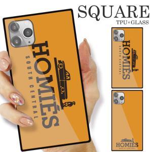 ガラスケース TPU 強化ガラス SQUARE iPhone SE2 SE アイフォン11 Pro HOMIES オシャレ トレンド|numbers