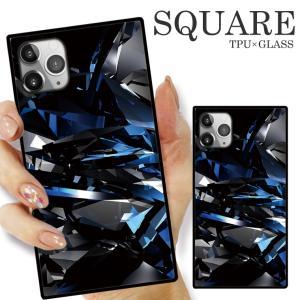 ガラスケース TPU 強化ガラス SQUARE iPhone SE2 SE アイフォン11 Pro ミラー 万華鏡 ケース オリジナル 海外 セレブ おしゃれ トレンド|numbers