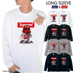ストリート大人気ブランド ロンT longsleeve ロングスリーブ Superman Superme ダース 長袖 メンズ レディース 男女共用|numbers