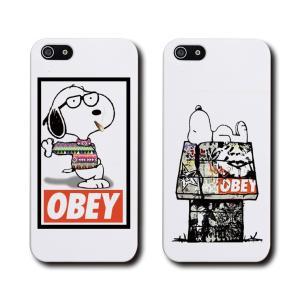 送料無料 全機種対応 iPhone Galaxy Xperia AQUOSPHONE OBEY 犬 オベイ キャラクター おしゃれ トレンド