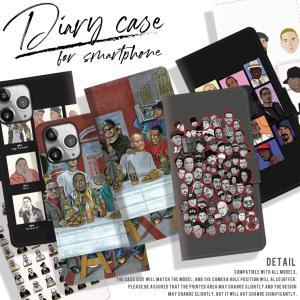全機種対応 手帳型 iPhone8  HIPHOP ヒップホップ ビギー 2PUC ストリート系 裏...