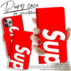 手帳型スマートフォンケース iPhone Superme 大人気 パロディ BOXロゴ モード おしゃれ トレンド シュプリーム Supreme好き必見