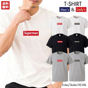 ストリート大人気ブランドTシャツ Superman 大人気 ボックスロゴ BOXロゴ オシャレ トレンド モード Supreme supreme シュプリーム好き必見
