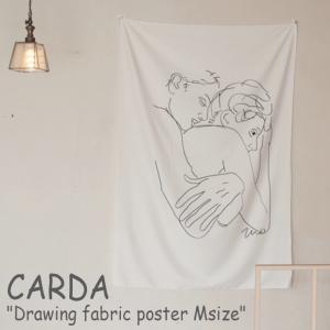 カルダ タペストリー CARDA ドローイング ファブリックポスター Drawing fabric poster Msize 恋人 カップル スケッチ 韓国インテリア おしゃれ 2697889-01 ACC|nuna-ys