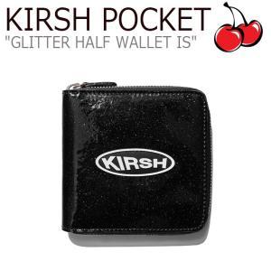 キルシーポケット 財布 KIRSH POCKET CIRCLE LOGO GLITTER HALF WALLET IS サークル ロゴ グリッター ハーフ ウォレット BLACK ブラック CNWA9EL05BK ACC|nuna-ys