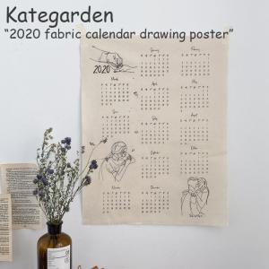 ケイトガーデン タペストリー Kategarden 2020 fabric calendar drawing poster 2020年 ファブリックカレンダー ドローイング ポスター 韓国雑貨 4750536084 ACC|nuna-ys
