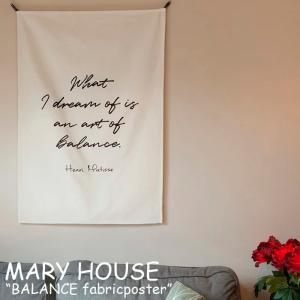 マリーハウス タペストリー MARY HOUSE BALANCE fabricposter バランス ファブリックポスター 韓国雑貨 ACC|nuna-ys