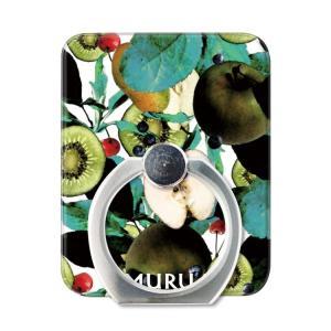 スマホリング スマートフォン リング ホールドリング スタンド MURUA(ムルーア)×Gizmobies/TROPICAL FRUITS お取り寄せ|nuna-ys
