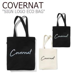 カバーナット トートバッグ Covernat メンズ レディース SIGN LOGO ECO BAG サイン ロゴ エコバッグ MINT IVORY BLACK C2002EC01MI/IV/BK バッグ nuna-ys