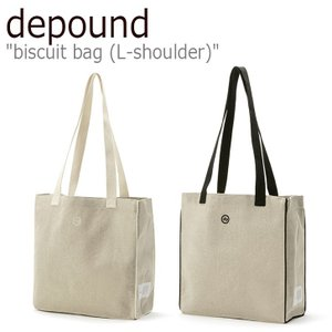 デパウンド エコバッグ depound レディース biscuit bag (L-shoulder) ビスケット バッグ L ショルダー IVORY アイボリー BLACK ブラック 300918254/6 バッグ nuna-ys