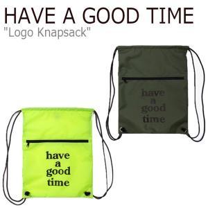 ハブアグットタイム サコッシュ HAVE A GOOD TIME メンズ レディース LOGO KNAPSACK ロゴ ナップザック LIME ライム OLIVE オリーブ 212856/61 バッグ|nuna-ys