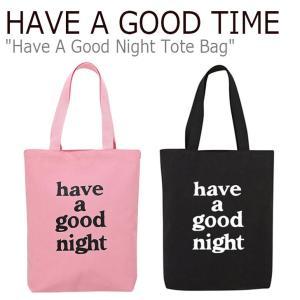 ハブアグットタイム エコバッグ HAVE A GOOD TIME HAVE A GOOD NIGHT TOTE BAG ハブアグットナイト トートバッグ ピンク ブラック FLGD9A1B61/2 バッグ|nuna-ys