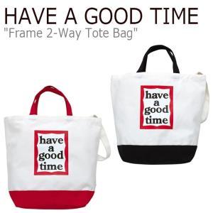 ハブアグットタイム クロスバッグ HAVE A GOOD TIME FRAME 2-WAY TOTE BAG フレーム 2ウェイ トートバッグ BLACK ブラック RED レッド FLGDAA1B11/2 バッグ|nuna-ys