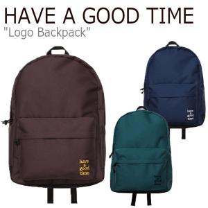 ハブアグットタイム リュック HAVE A GOOD TIME メンズ レディース LOGO BACKPACK ロゴ バックパック チョコレート ブルー グリーン HGT19FXBP0022/3/4 バッグ|nuna-ys