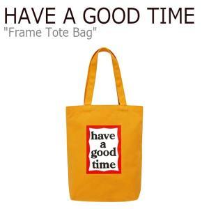 ハブアグットタイム エコバッグ HAVE A GOOD TIME メンズ レディース FRAME TOTEBAG フレーム トートバッグ オレンジ HGT19FXTT0011 FLGDAA1B03 バッグ|nuna-ys