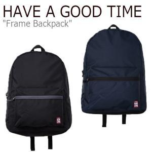 ハブアグットタイム リュック HAVE A GOOD TIME メンズ レディース FRAME BACKPACK フレーム バックパック ブラック ネイビー HGT19SXBP0001/3 バッグ|nuna-ys