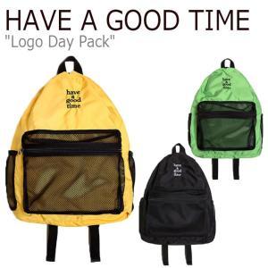 ハブアグッドタイム リュック HAVE A GOOD TIME LOGO DAY PACK ロゴ デイ パック GREEN グリーン YELLOW イエロー BLACK ブラック HGT20SXBP0021 バッグ|nuna-ys